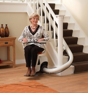 Curved stairlift Brithdir