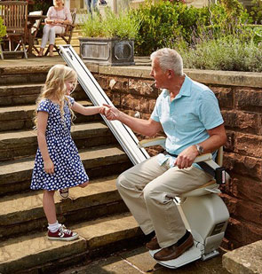 Outdoor stairlift in Llandovery