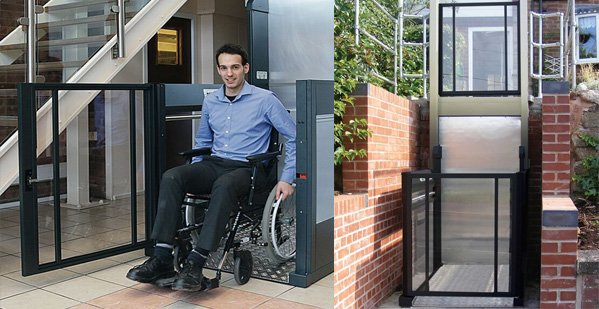 Garden wheelchair platform lift in South Wales