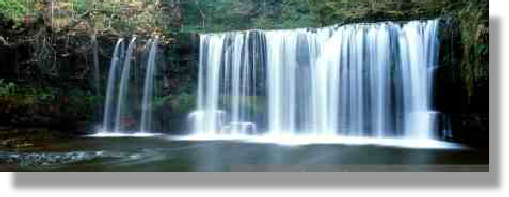 Waterfall at Scwd Ddwli Powys